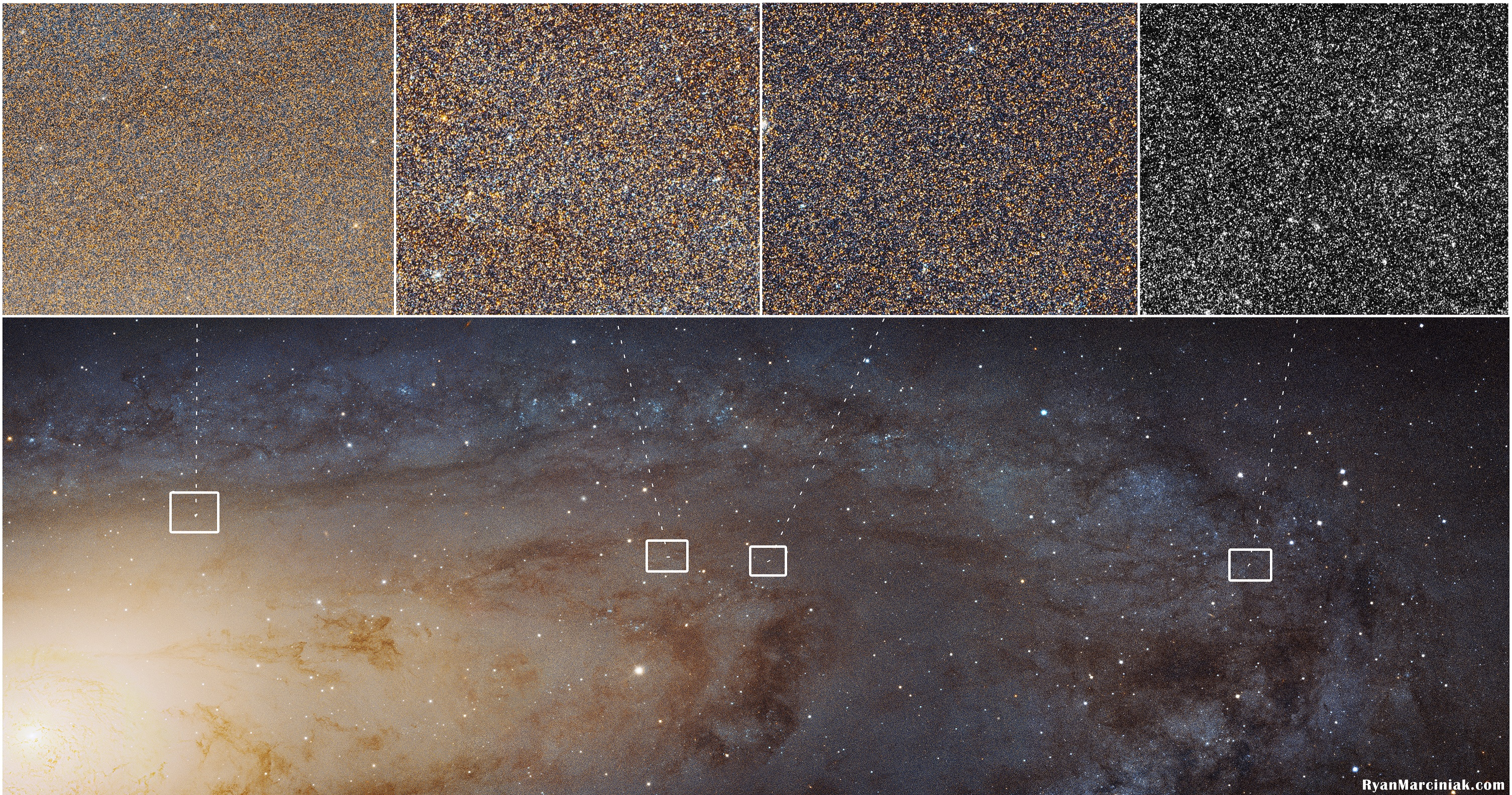 4 3 Gigabytes and 100 Million Stars in a Single image