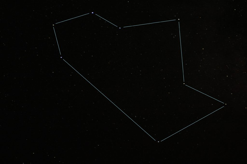 Same shot as above showing Teapot shape in Sagittarius.
